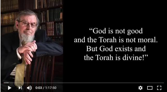 """Beit Boyer Lecture: """"God is not Good"""""""